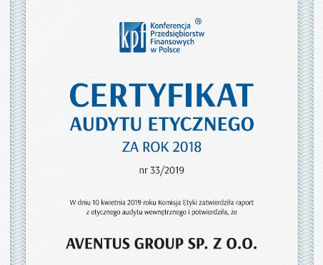 Certyfikat Etyczny KPF